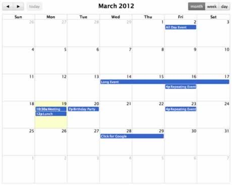 Fullcalendar Is A Jquery Plugin That Provides A Full Sized Drag
