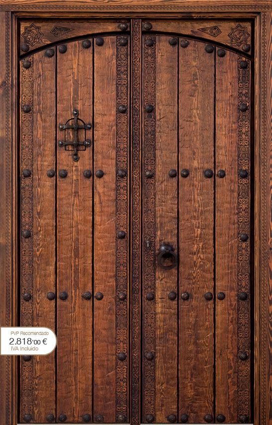 Puertas r sticas alpujarre as artesanos de la puerta for Puertas de madera con herreria