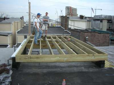 Framing for rooftop deck | Rooftop deck, Deck, Rooftop |Roof Deck Framing Plans