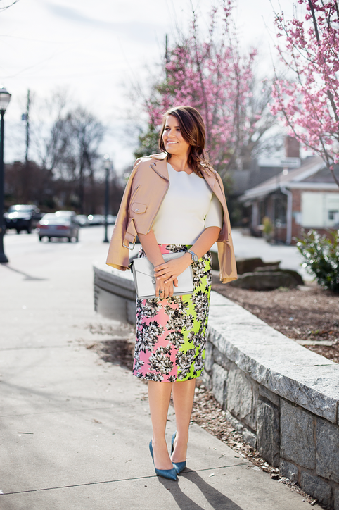 Atlanta Interior Designer Helen Harbin Davis Bright Springy Office Outfit Idea
