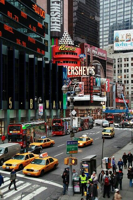 Time Square is an important symbol of Americana. There is so much history of America that has just taken place in Time Square.