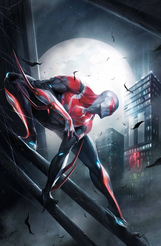Spider-Man 2099 - Miggy in his new costume
