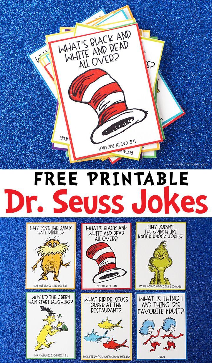 Free Printable Dr. Seuss Jokes Dr seuss printables, Dr