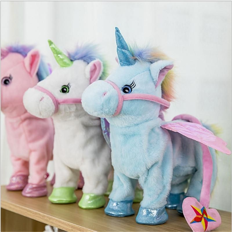 Electric Walking Unicorn Plush Toy Plush dolls, Unicorn