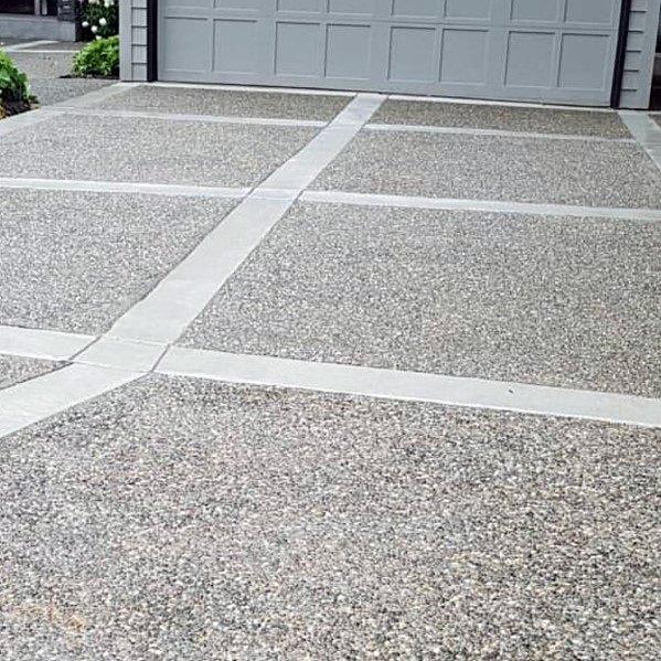Top 50 Best Concrete Driveway Ideas Front Yard Exterior Designs Concrete Driveways Decorative Concrete Driveways Diy Driveway