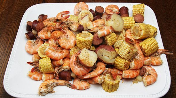 Amerikansk gryderet med kartofler og majskolber