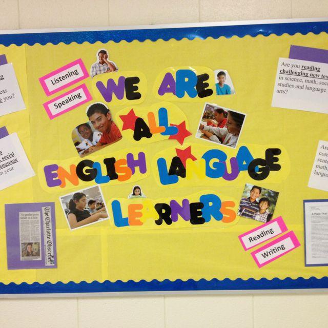 Classroom Ideas Esl ~ Esl bulletin board in middle school boards