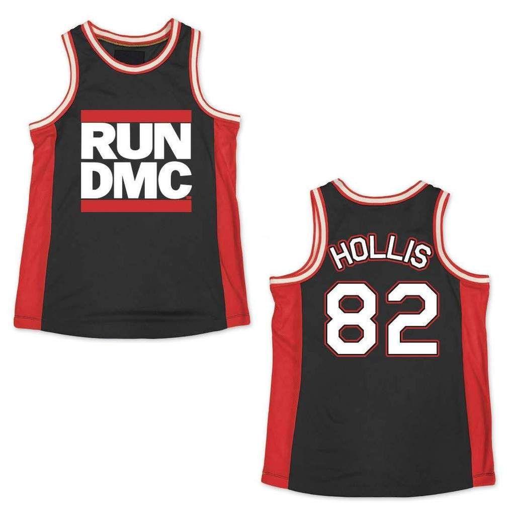 Run Dmc Black Red Basketball Jersey Run Dmc Basketball Jersey Vintage Jerseys