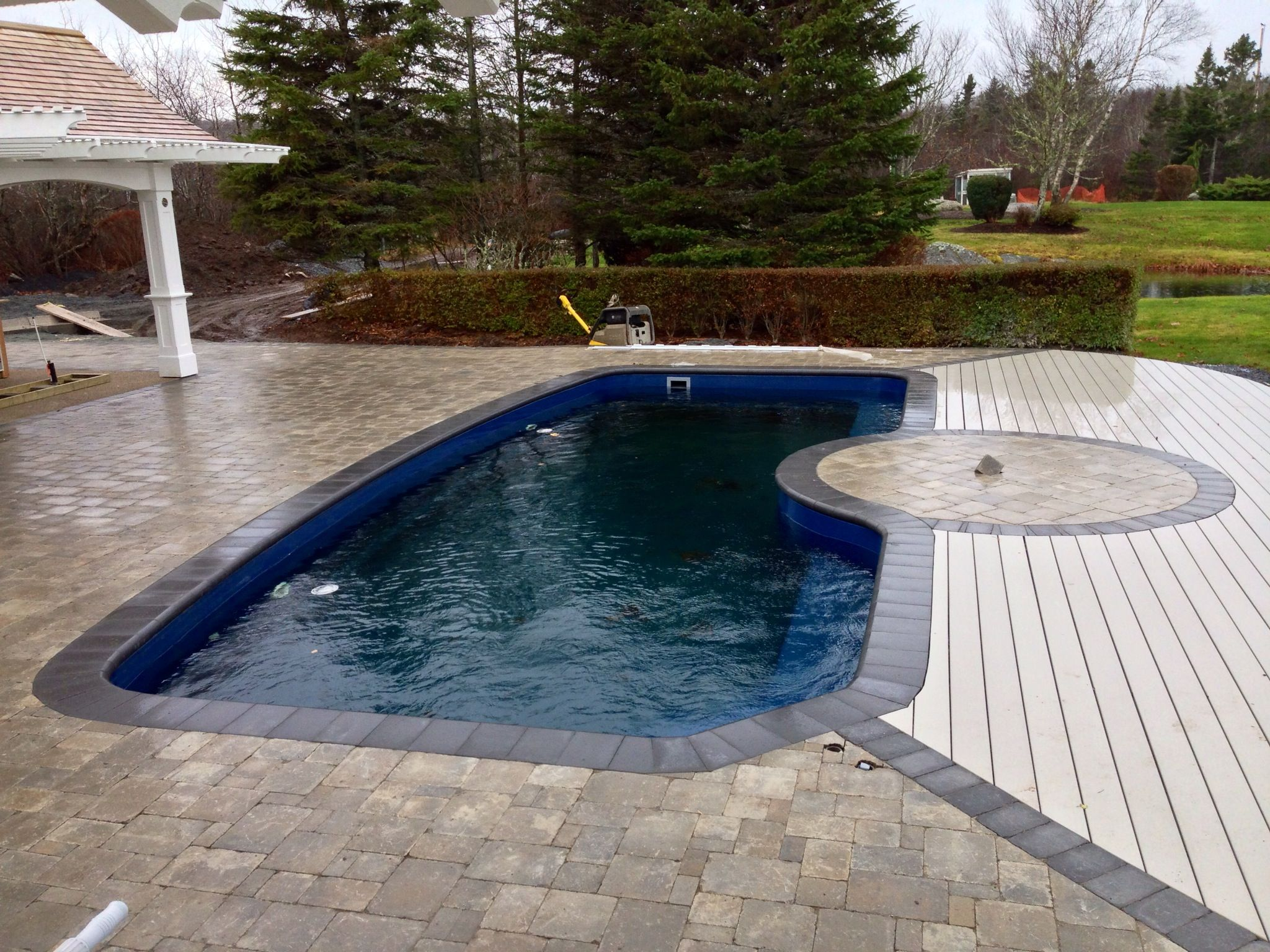 Stunning Fiberglass In Ground Pool We Installed In Halifax Nova Scotia Canada Composite