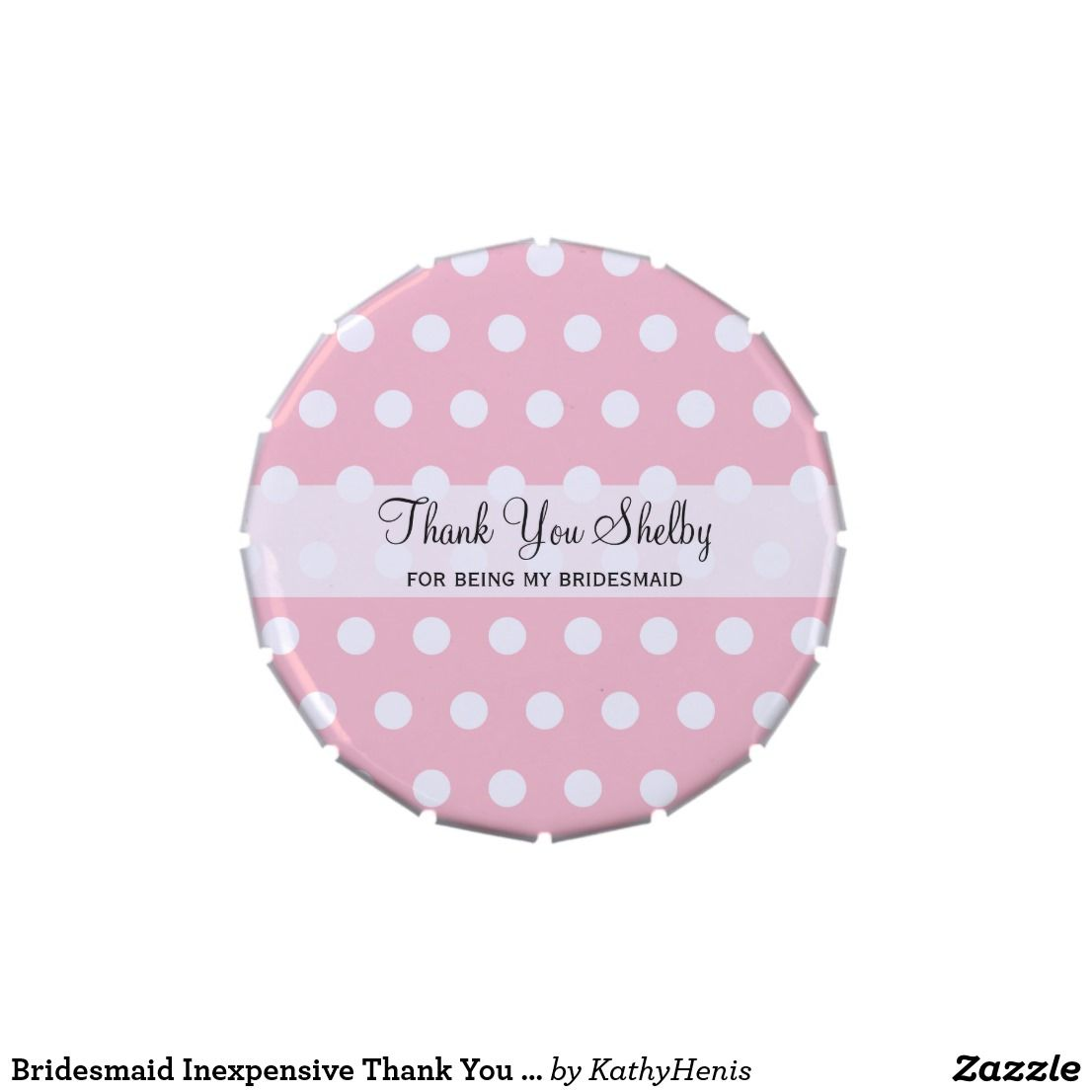 Bridesmaid Inexpensive Thank You Gifts Candy Tin | Candy Containers ...