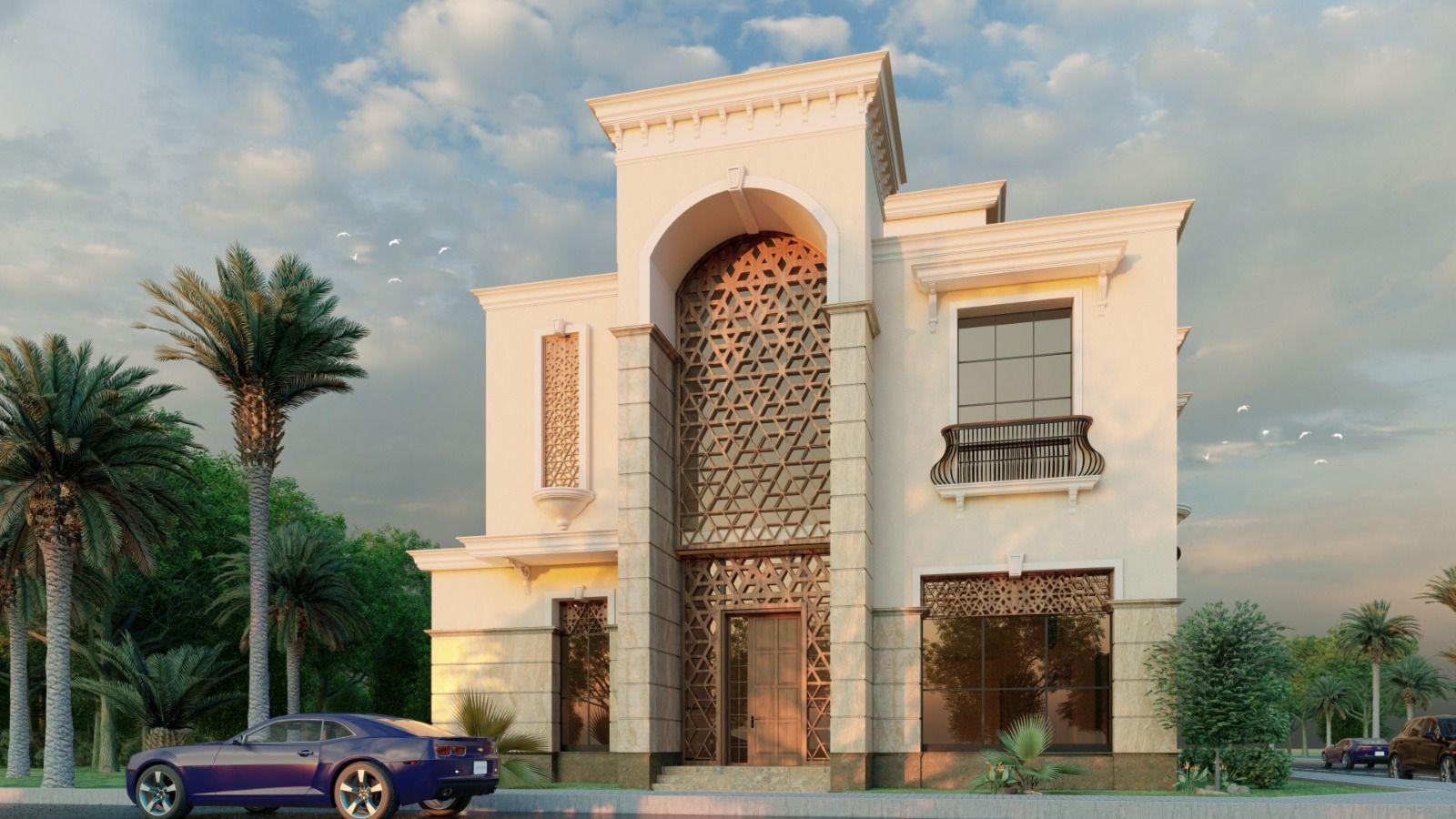 واجهة فيلا في جدة طراز اسلامي مودرن House Styles Mansions House