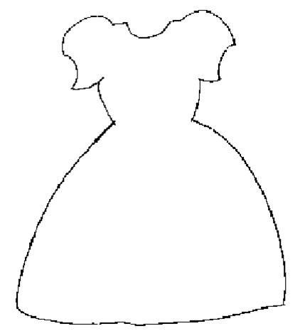 basic wedding dress outline
