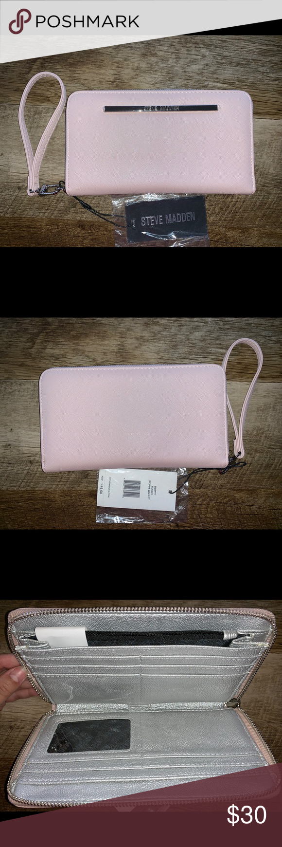 Steve Madden Zippy Wallet New light blush color, inter
