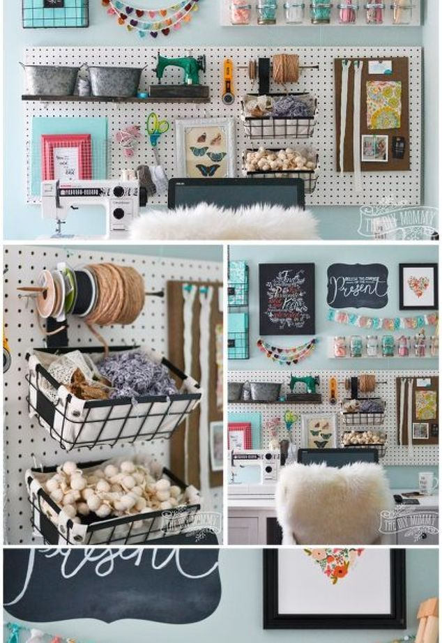 A Pegboard Gallery Wall For My Office Craft Room