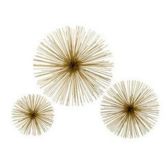 Brass Flower Starbursts