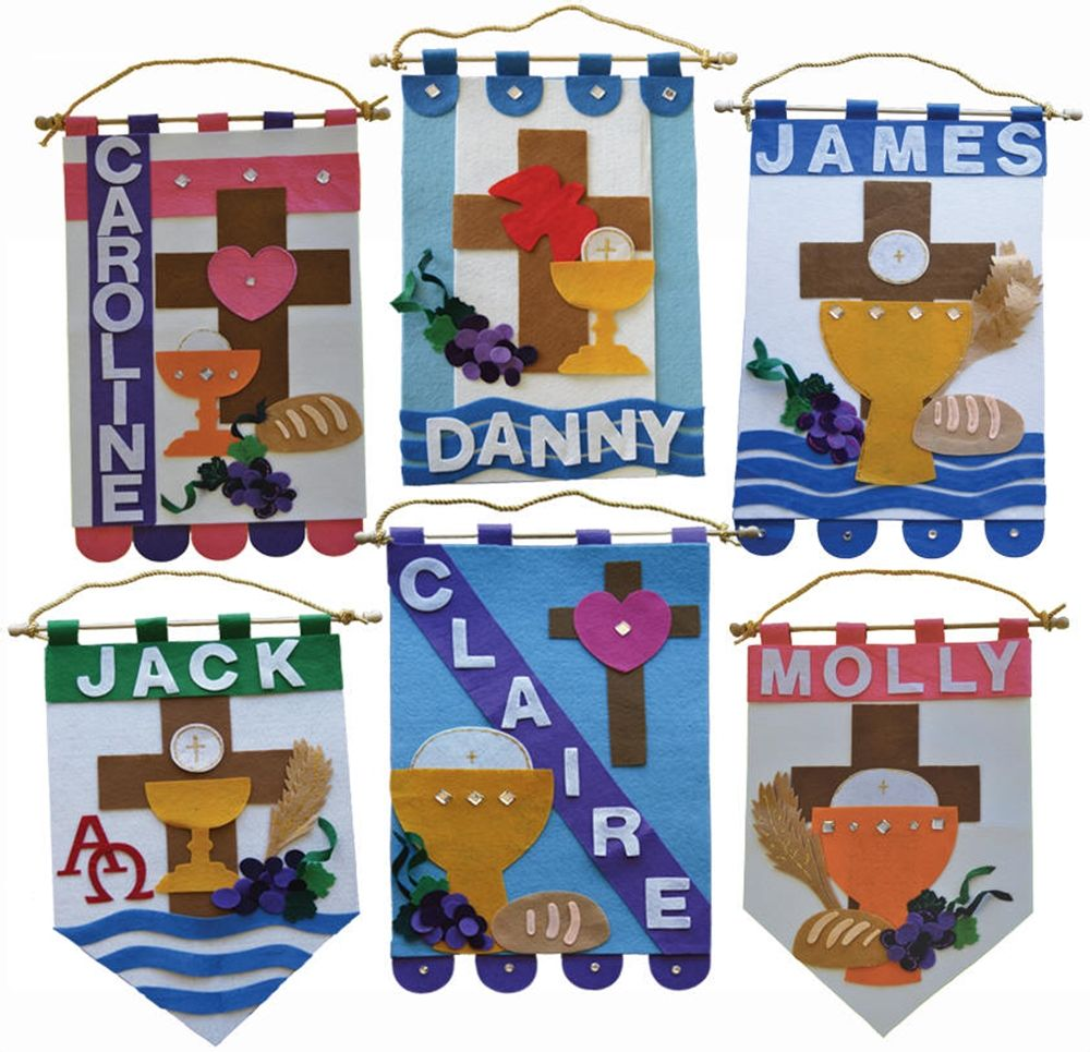 First communion banner kit boys ideas pinterest for First communion craft ideas