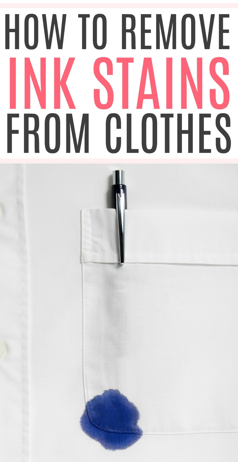 How To Remove Ink Stains From Clothes Ink Stain Removal Ink