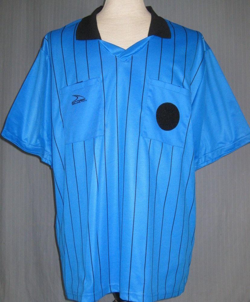 ef002a0ae Score Soccer Adult 2XL Blue Stripe Referee Jersey (2X XX XXL Large AYSO )   Score  na