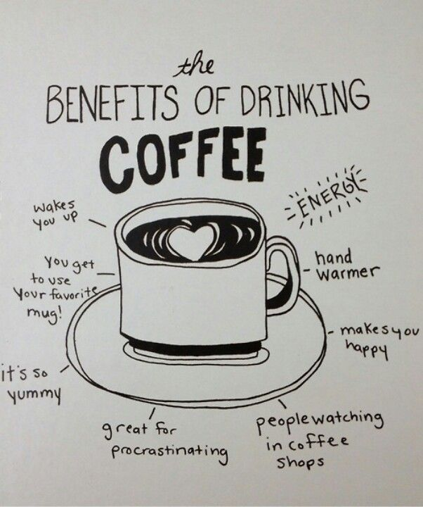 the benefit of drinking coffee :)