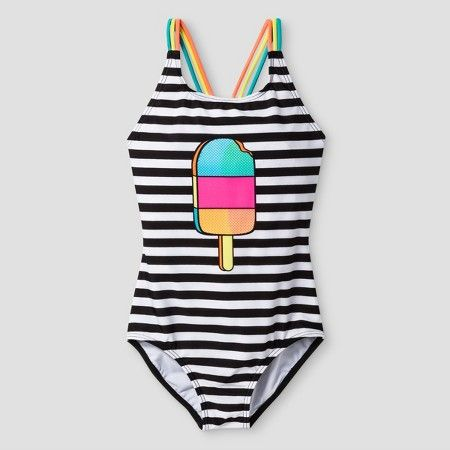 6f637306f16d5 www.target.com p girls-one-piece-swimsuit-popsicle-stripe-cat-jack-black -  A-51719987