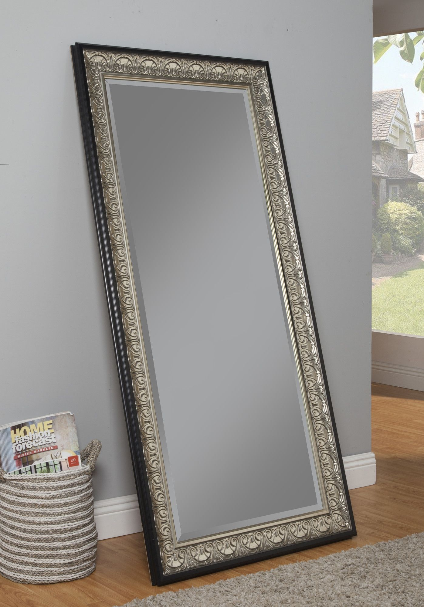 Features Can Be Used As A Leaner Mirror Or Mounted On The Wall Either Vertically Or Horizontally D Full Length Mirror Mirror Wall Black Full Length Mirrors