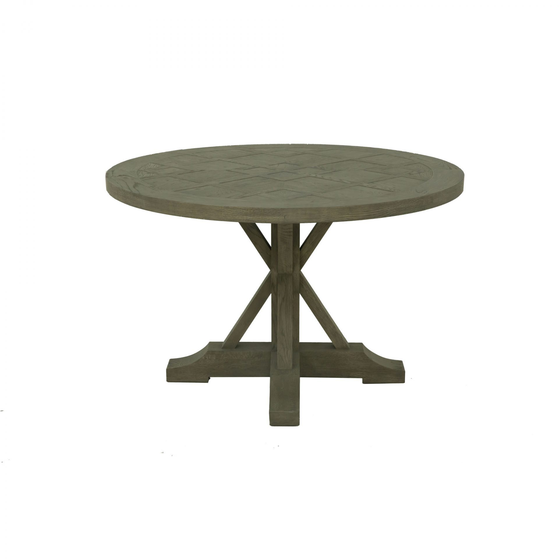 Durham 47 Round Oak Dining Table Grey Wash Products