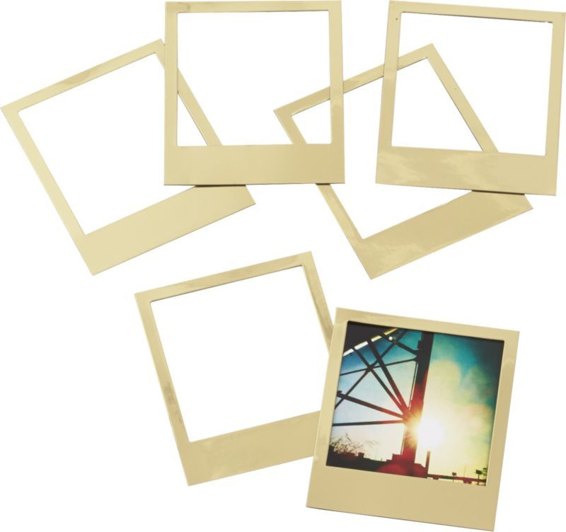 photo flash. Six gilded frames capture a flashy take on the old ...