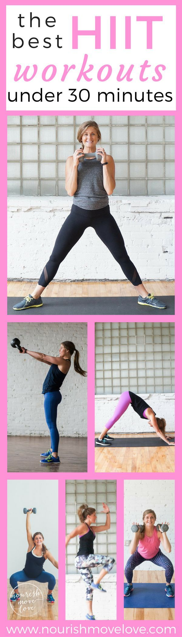 The Best HIIT Workouts Under 30 Minutes I hiit workouts I hiit workouts at home I  hiit I high intensity interval training I at home workouts II Nourish Move Love #hiit #workouts #fitness