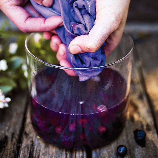 DIY Blueberry Dye  DIY  MOTHER EARTH NEWS is part of Diy dye - Make your own homemade organic dye using blueberries  This article includes information on preparing the fabric and preparing the dye
