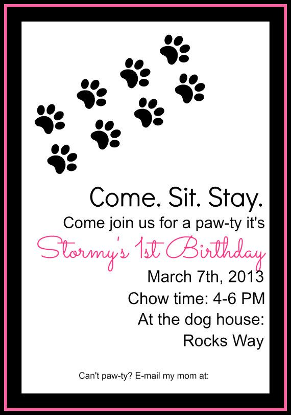 Dog Birthday Invitation All My Friends Know They Will Be Getting One Of These For Mr Maximuss Next Month