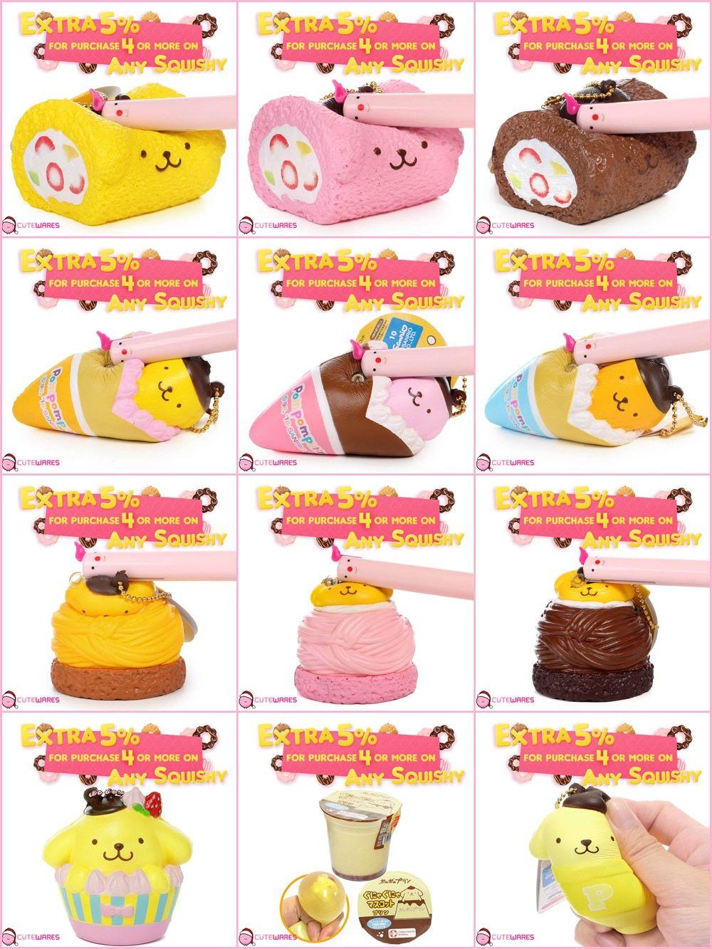 Sanrio Cute Squishy Mascot Pompompurin Squishy by NIC