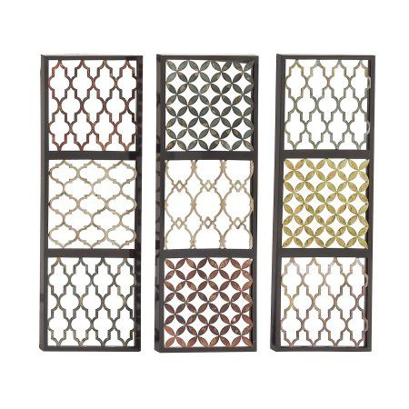 Priceless Metal Wall Decorative 3 Assorted, Multicolor