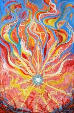 "Saatchi Online Artist Anne Cameron Cutri; Painting, ""Burning Bush"" #art"