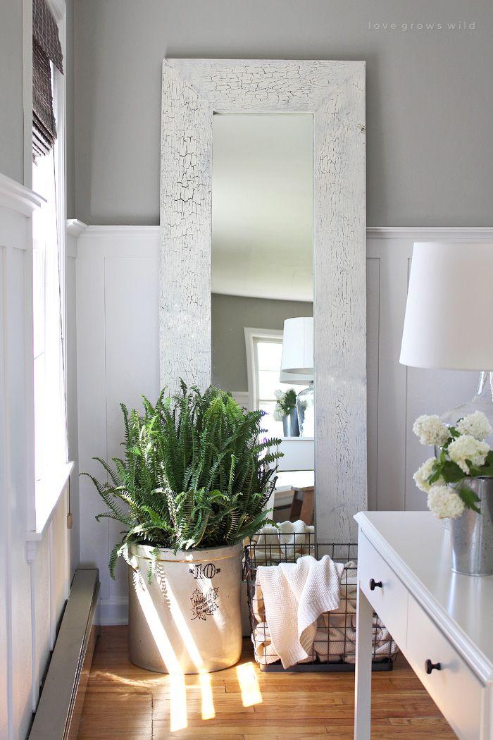 Framed Floor Mirror | Floor mirror, Living room decor ...