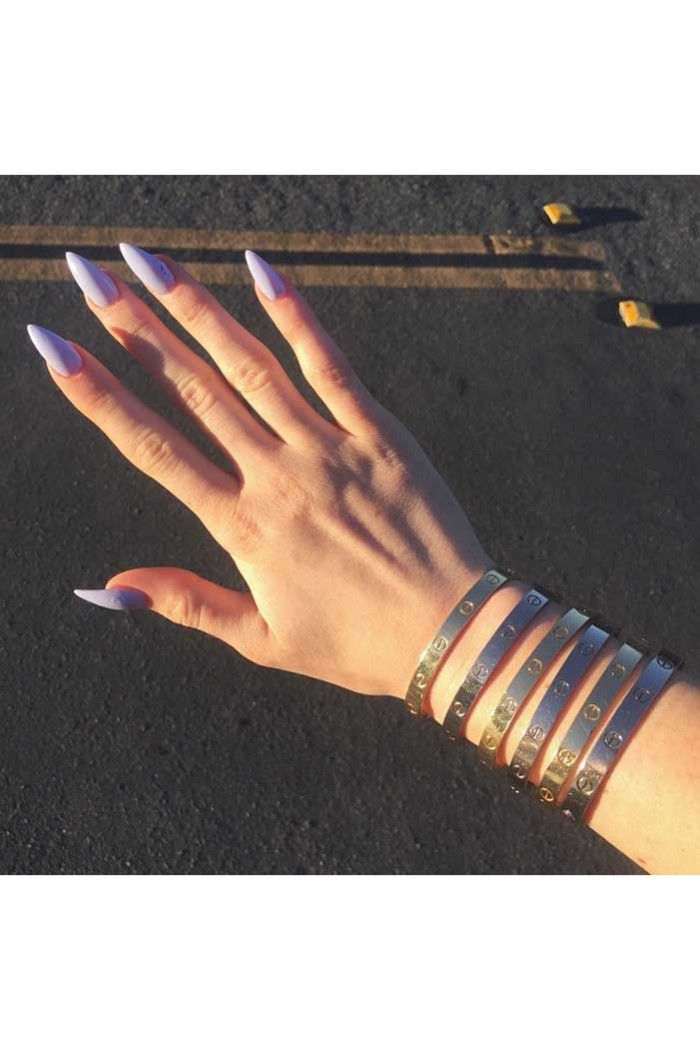 kyliejenner long, violet nails! Check out: http://www.graziadaily.co ...