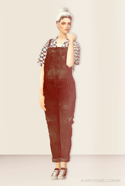 Momosims Overalls 3t2 Af Always Sims Overalls Sims Fashion