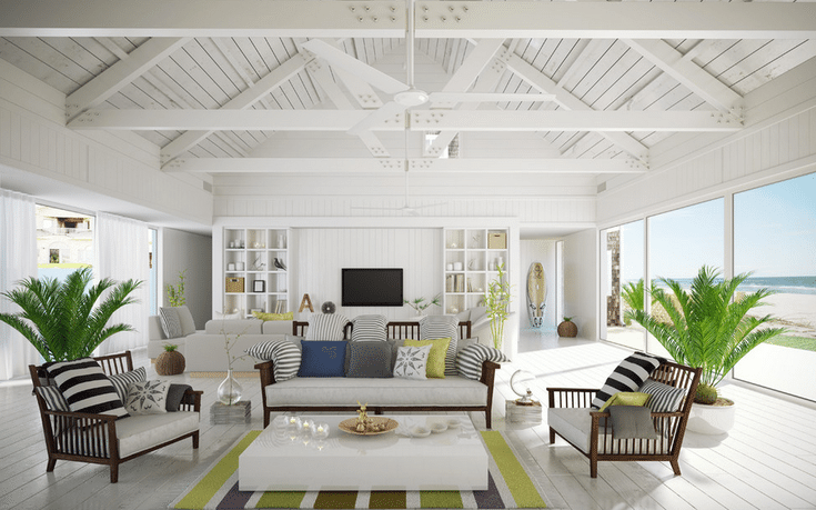 Discover 20 Beautiful Beach-Inspired Living Rooms | Coastal ...