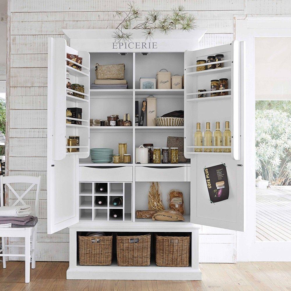 Vorratsschrank aus Holz, B 95 cm, weiß | Wohnen | Pinterest ...