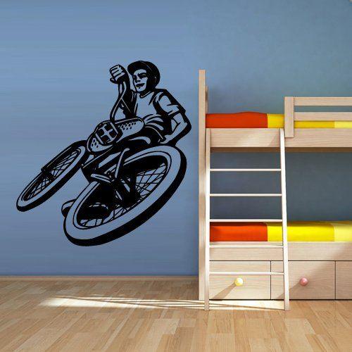 Wall Vinyl Sticker Decals Decor Art Bedroom Design Mural Modern Design Sport Cycle BMX Bike Bicycle (Z2636) StickersForLife http://www.amazon.com/dp/B00KI0VLS2/ref=cm_sw_r_pi_dp_UpUfvb0KKVSWF
