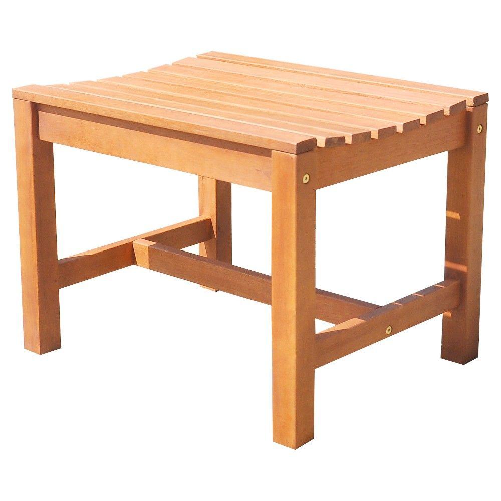 Vifah Malibu Eco Friendly Outdoor Hardwood Garden Backless Chair
