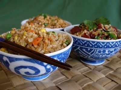 healthy fried rice - good link