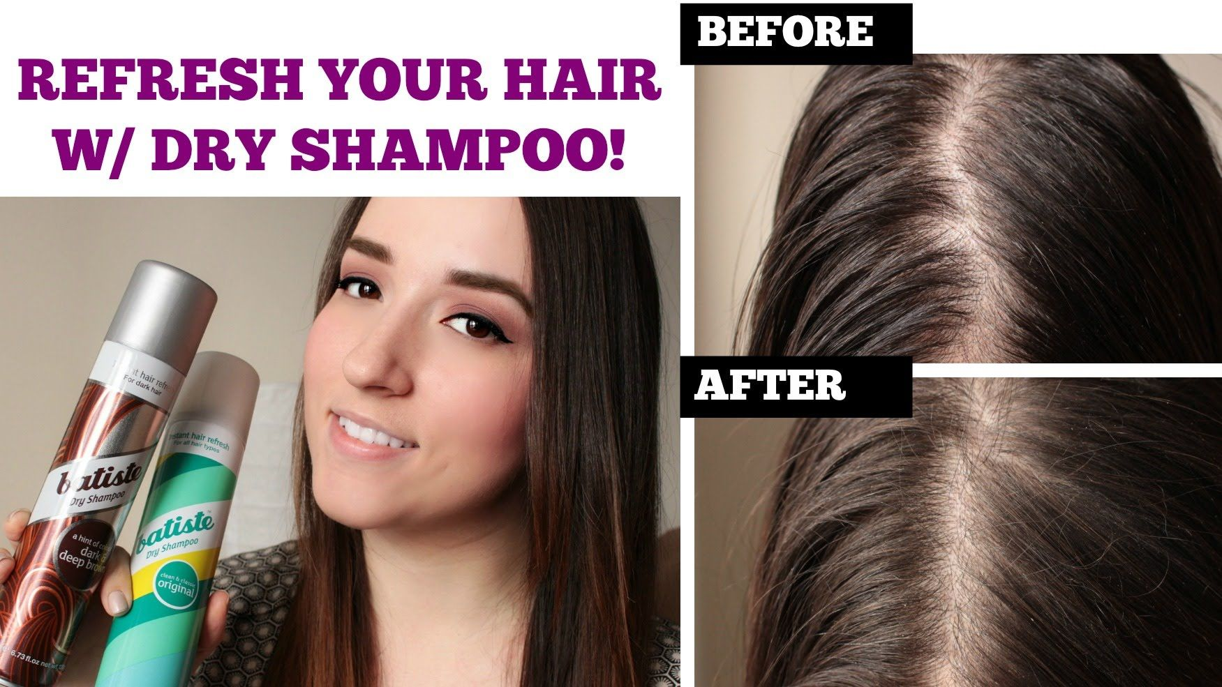 Refresh Oily Limp Hair Batiste Dry Shampoo Demo Review Dark Dry Shampoo Batiste Dry Shampoo Dry Shampoo