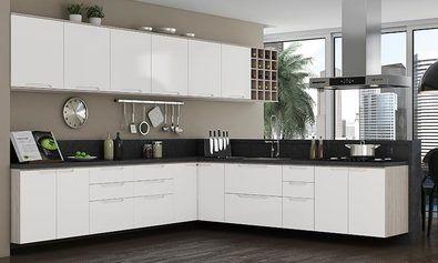 Cozinha Modulada Completa Suspensa Com 16 Modulos Solaris 100 Mdf