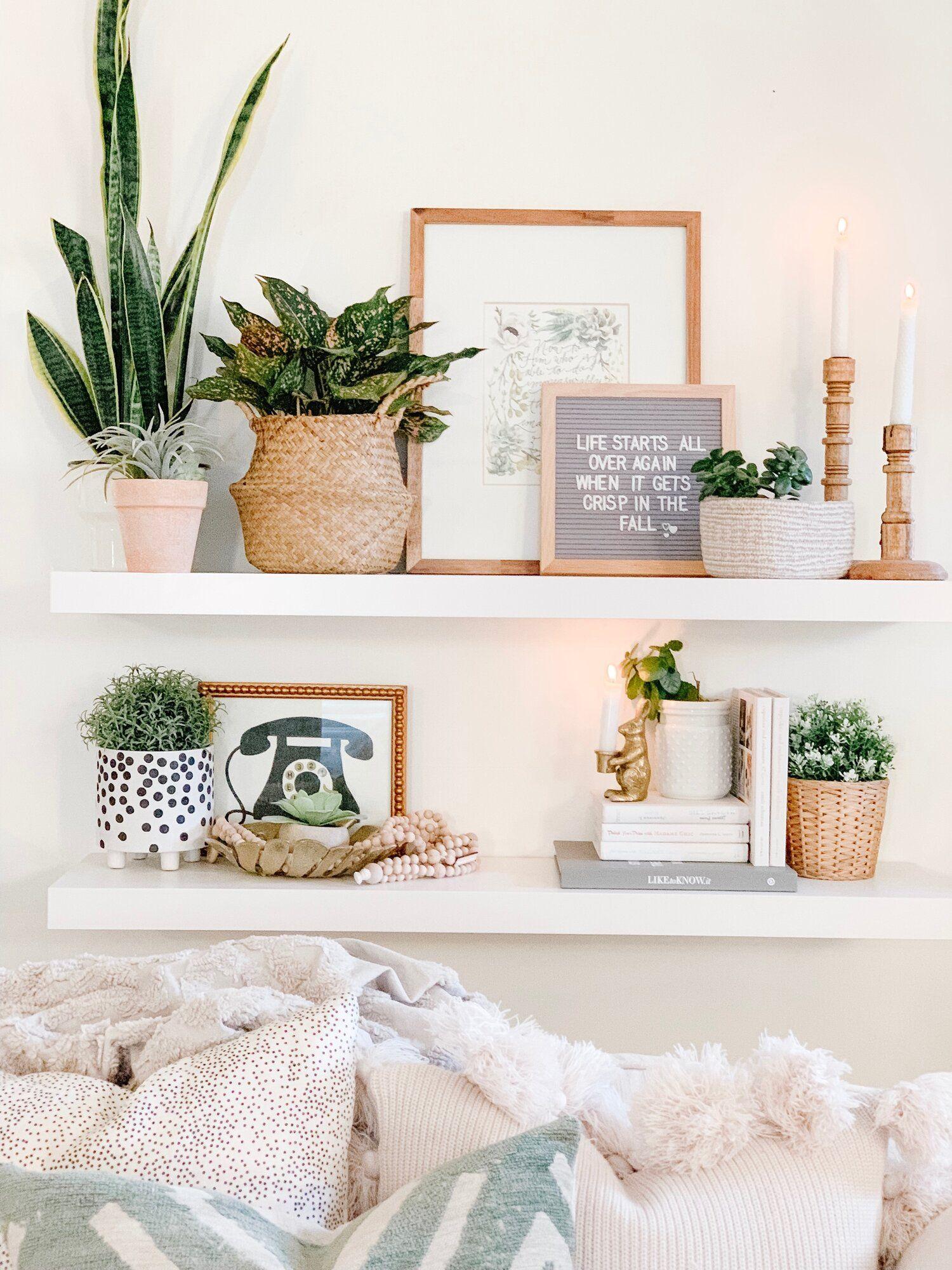 living room shelf decor the beauty revival  Shelf decor living
