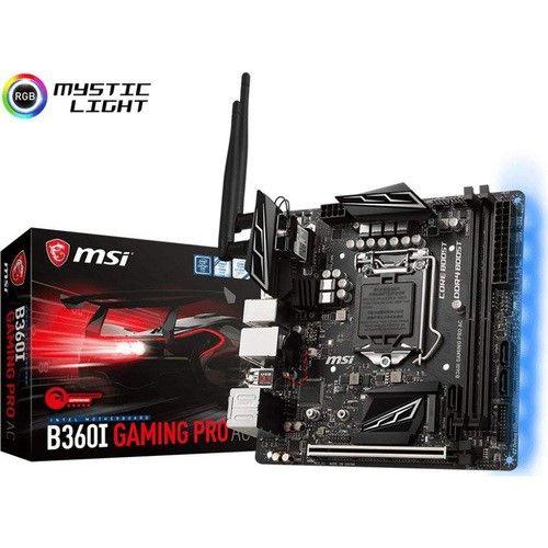 Msi Gaming Intel Coffee Lake B360 Lga 1151 Ddr4 Onboard Graphics B360igproac With Images Msi Motherboard Mini Itx