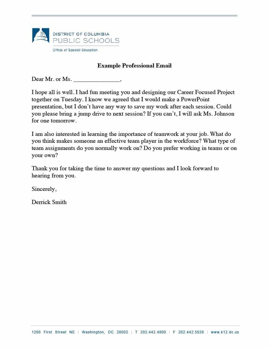 Download professional email example 05 | Professional email example, Professional  email templates, Email writing