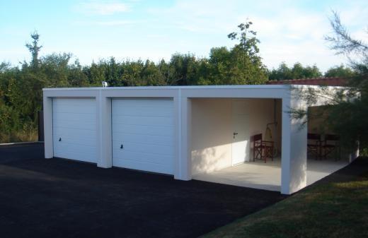 Modele De Garage En Dur Garage Toit Plat Garage Prefabrique Garage Ouvert