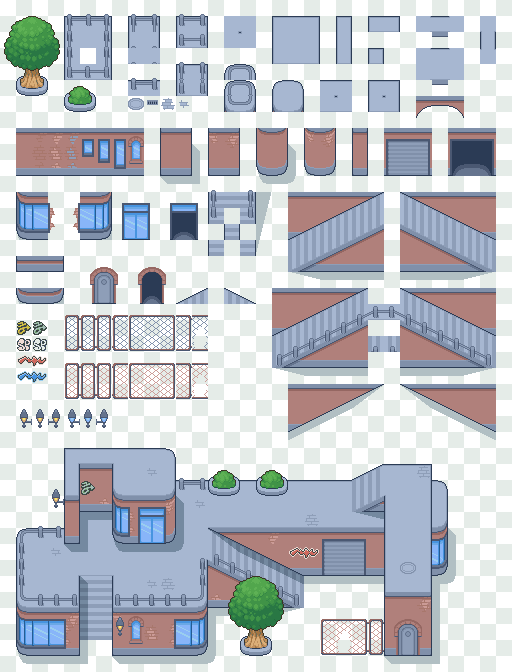 City Tiles by Magiscarf | Game Assets/Reference in 2019 | Pixel art