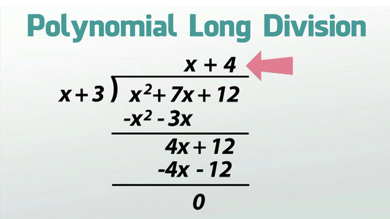 How To Do Long Division With Polynomials With Remainder Polynomials Mathematics Education Long Division
