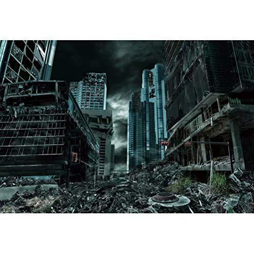 Leowefowa 7x5ft Destroyed City Backdrop Abandoned City Ru
